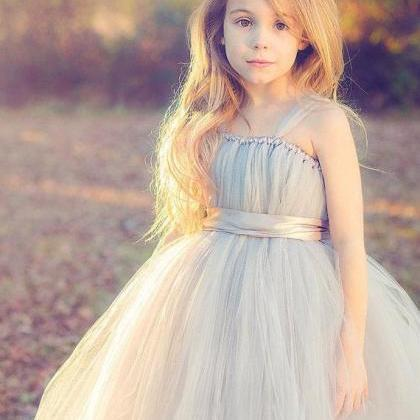 Custom made tulle flower girl dress..