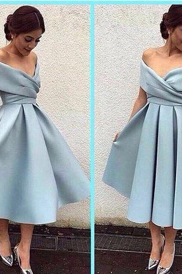 Simple satin short prom dress,homecoming dress,party dress