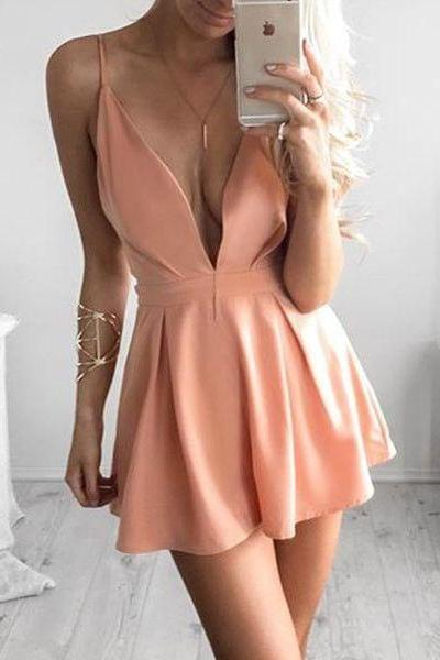 Satin Homecoming Dress,Homecoming Dress,Short Prom Dress,Country Homecoming Gowns,Sweet 16 Dress,Simple Homecoming Dress,Casual Parties Gowns