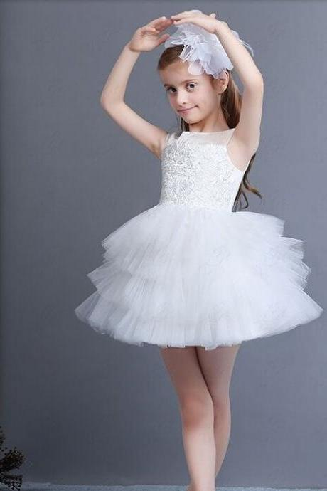 New Hot Selling Custom Made Flower Girl Dresses Girls Pageant for Baby Sashes Ball Gown Knee-length Organza Ruffles
