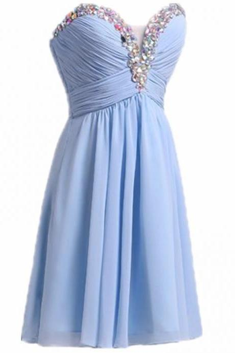 Elegant Charming High Quality Short Party Dresses New Arrival Chiffon Beaded Backless Homecoming Dresses vestido de festa curto