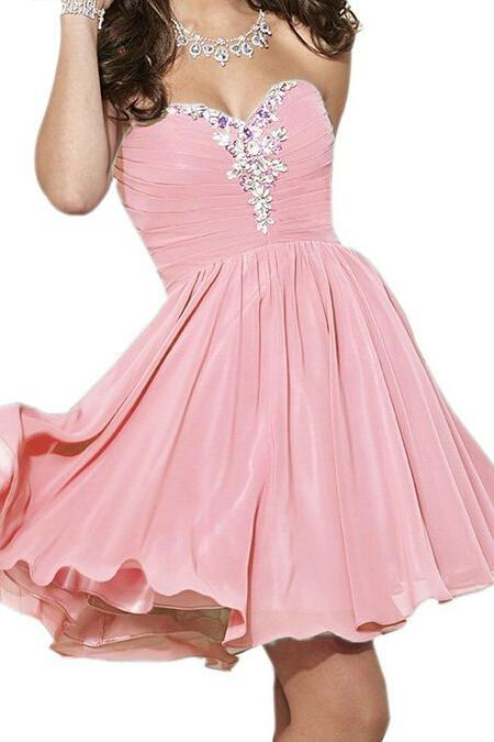 High Quality Prom Dress,A-Line Prom Dress,V-Neck Prom Dress,Chiffon Prom Dress,Long Beading Prom Dress Charming Homecoming Dress,Chiffon Homecoming Dress,Sweetheart Homecoming Dress, Short Noble Homecoming Dress