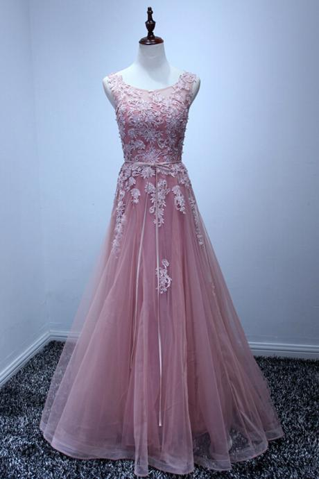 High Quality Prom Dress,Tulle Prom Dress,A-Line Prom Dress,Appliques Prom Dress