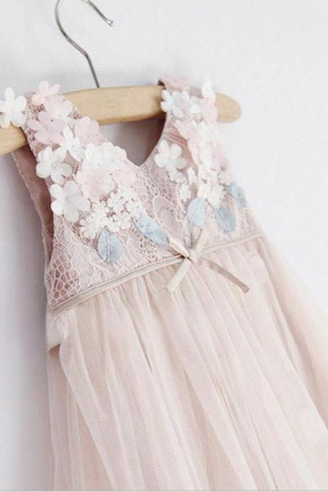 Girls Lace Dress 2016 Summer Children's Clothing Big Virgin Princess Skirt Children Skirt F-0027