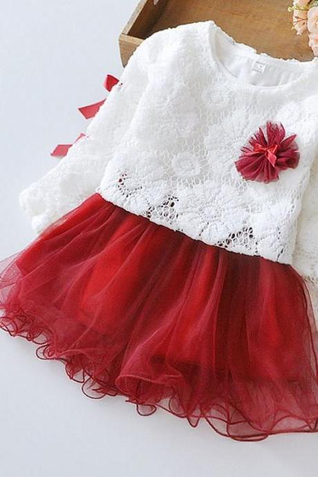 Christmas Dress Red Tutu Dress Christmas Evening Dinner Outfit Photography Props F-0040