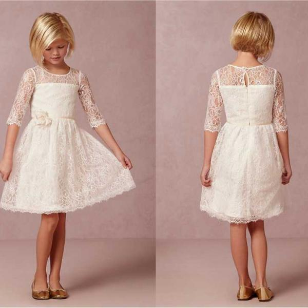 Flower Girl Dress Flower Girl Dresses Cream Dress Lace Dress ...