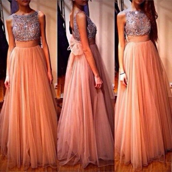 2016 Tulle Prom Dress, Available Prom Dress, Formal Prom Dress, Floor-Length Prom Dress, Evening Dress, Modest Prom Dress, Prom Dress