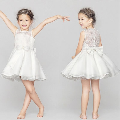 A line Lace Flower Girl Dresses Children Clothing Baby Girls Dresses