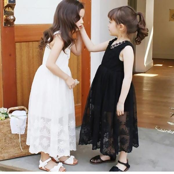 Explosion Models 2016 New Children's Clothing Girls Openwork Crochet Lace Dress Big Virgin Cotton Lace Dress Princess Dress Children's Clothing Burst Models F-0045